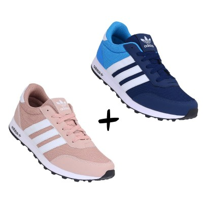 COMBO ADIDAS CASUAL ROSE +MARINHO COM ROYAL