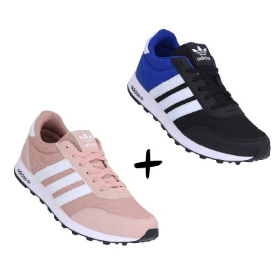 COMBO ADIDAS CASUAL ROSE +PRETO COM ROYAL